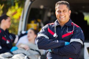 paramedic man smiling